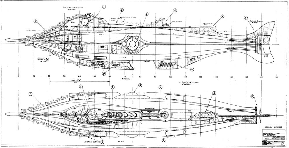 Trivia about the nautilus from disney s 20 000 leagues under the sea mike - Les classiques du design ...