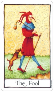 Fool Old English tarot